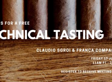 Cigar Sense Virtual Tasting Claudio Sgroi